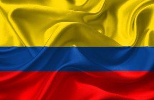 Die Flagge Kolumbiens.